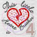 Applique Heart Breaker is 4
