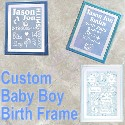 Baby Boy Birth Frame