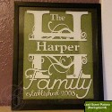 Fancy Family Name Frame