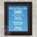 Dad's Greatest Blessings Frame