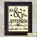 Mr & Mrs Name Frame (A)